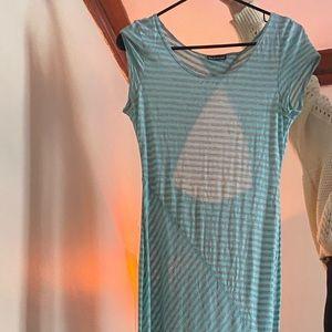 Teal Striped Dress